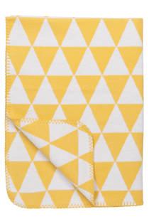 Meyco Triangle biologische wiegdeken 75x100 cm geel