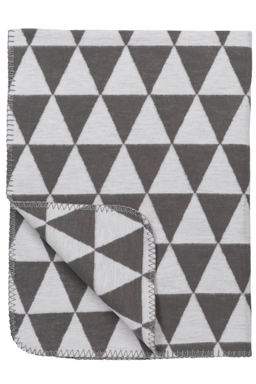 Meyco Triangle biologische wiegdeken 75x100 cm grijs, Grijs