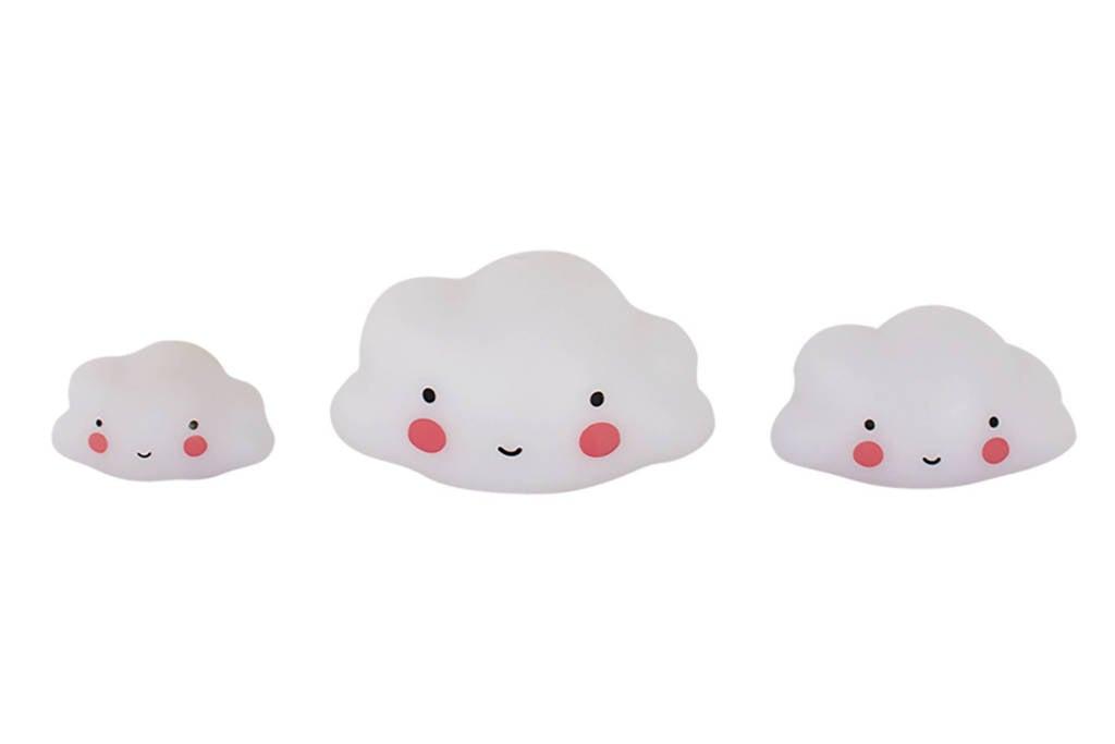 A Little Lovely Company mini wolkjes (set van 3), Wit