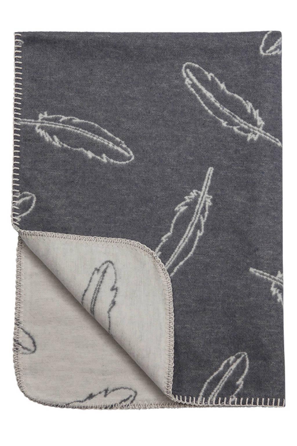 Meyco Feathers wiegdeken 75x100 cm grijs, Grijs