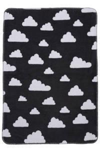 Meyco Little Clouds wiegdeken 75x100 cm zwart, Zwart