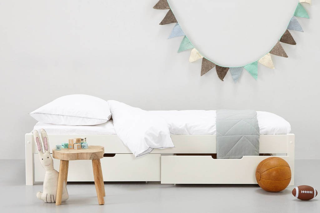 whkmp's own bed inclusief bedlade Charlie (90x200 cm), Wit