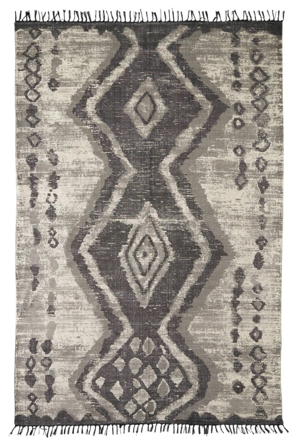 HKliving vloerkleed  (180x120 cm), Grijs/zwart