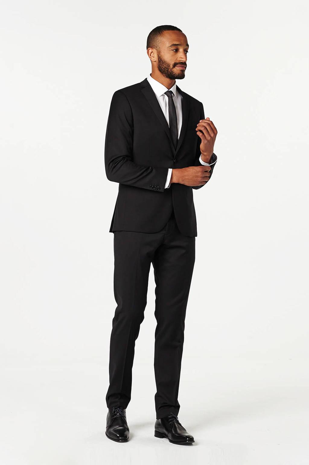 Matinique Las regular fit pantalon, Zwart