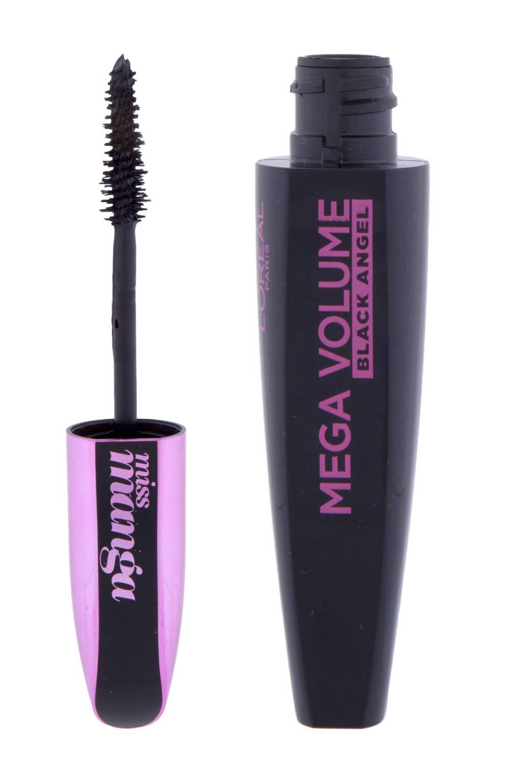 L'Oréal Paris Mega Volume Miss Manga Black Angel mascara - 01 Black, Zwart