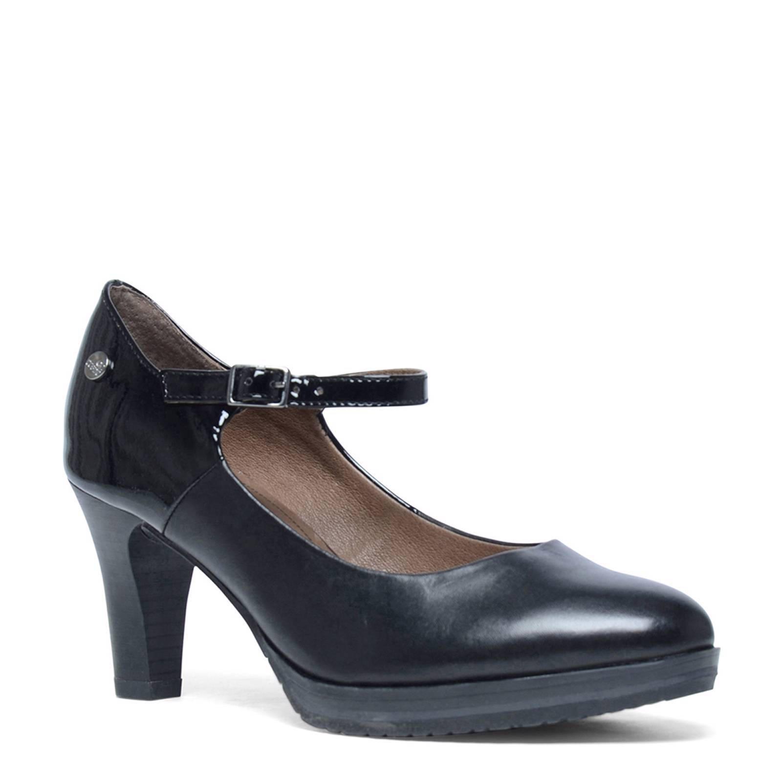 Pas De Stress Chaussures Noir Avec Boucle Pour Dames 1eA4Ah