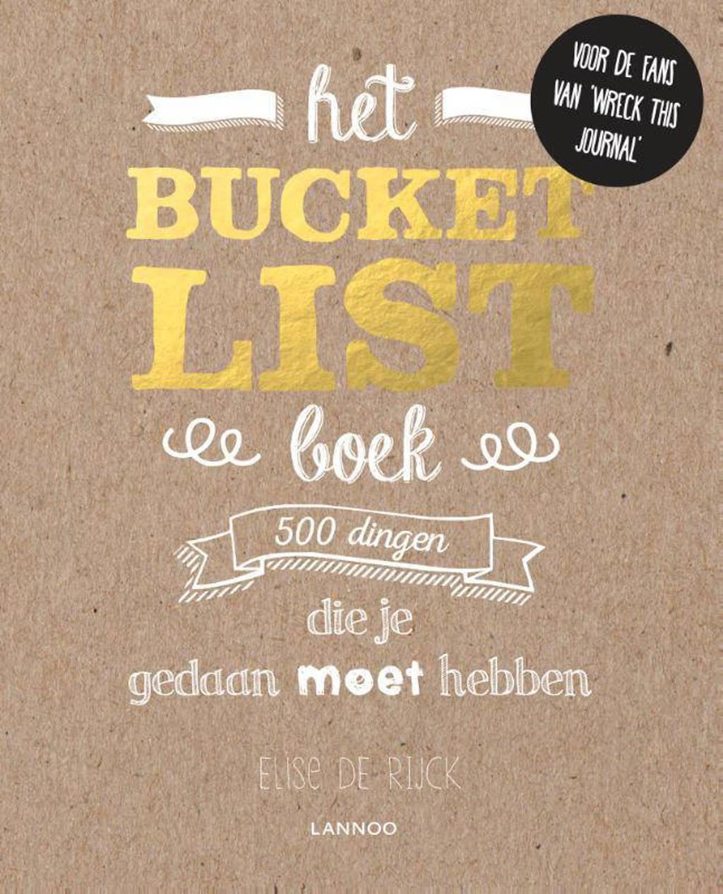 Het Bucketlist boek - Elise De Rijck