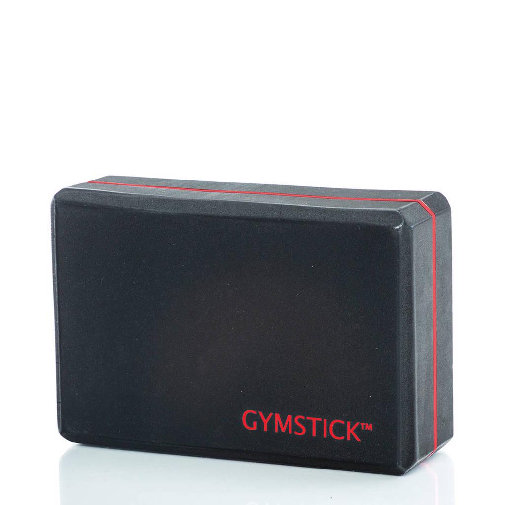 Gymstick  Yoga blok - Met Online Trainingsvideo's, Zwart