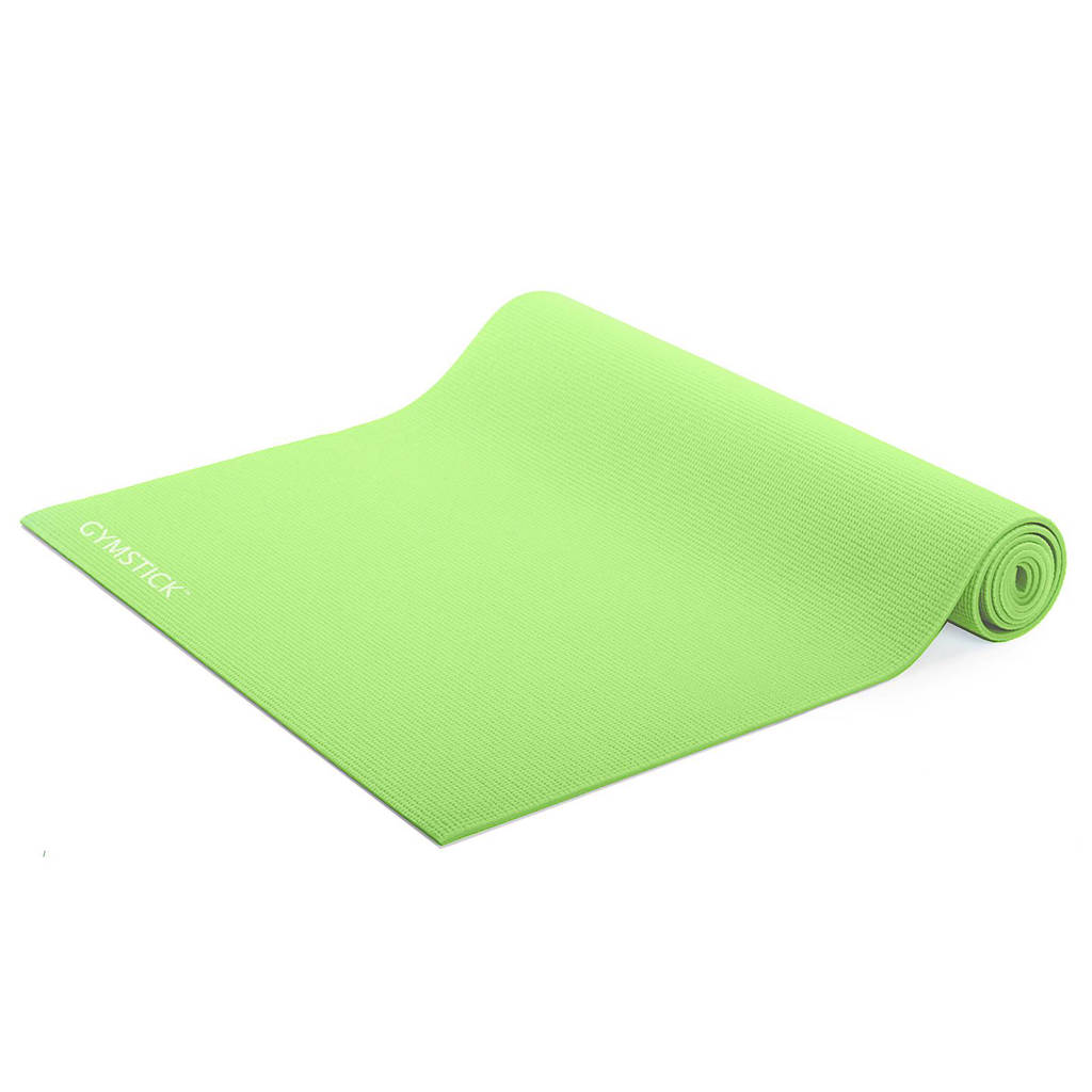 Gymstick  fitness mat lime + instructievideo's, Lime