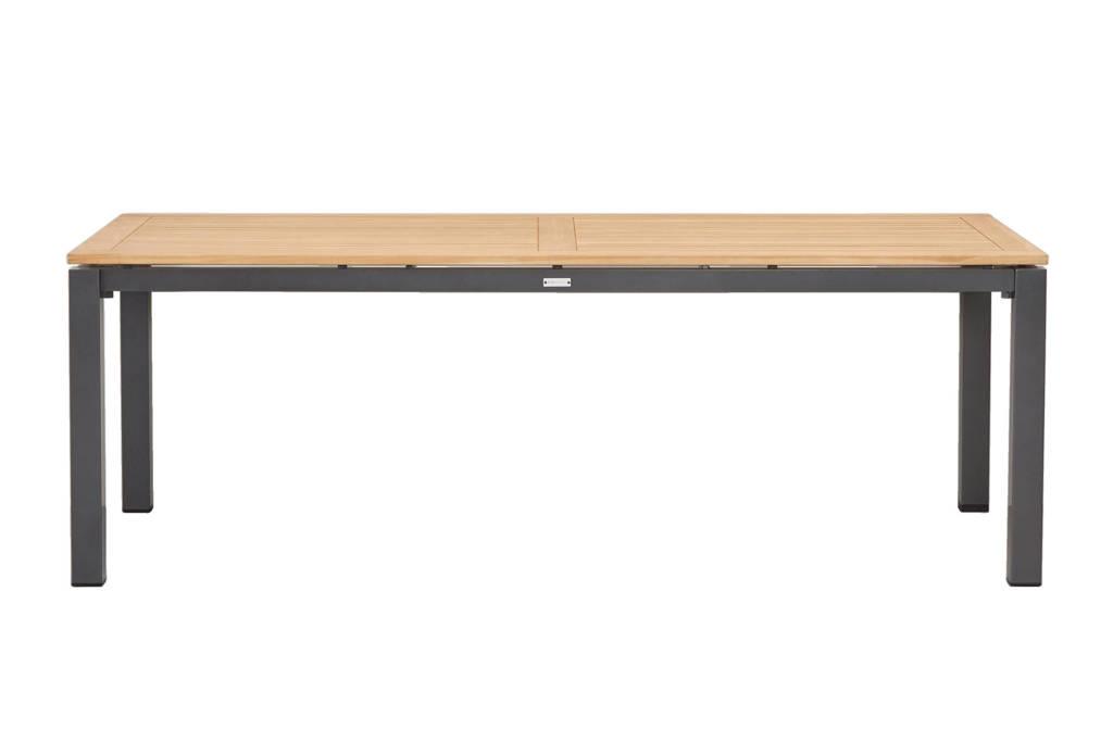 Exotan tuintafel Memphis (220x100 cm), Antraciet met naturel