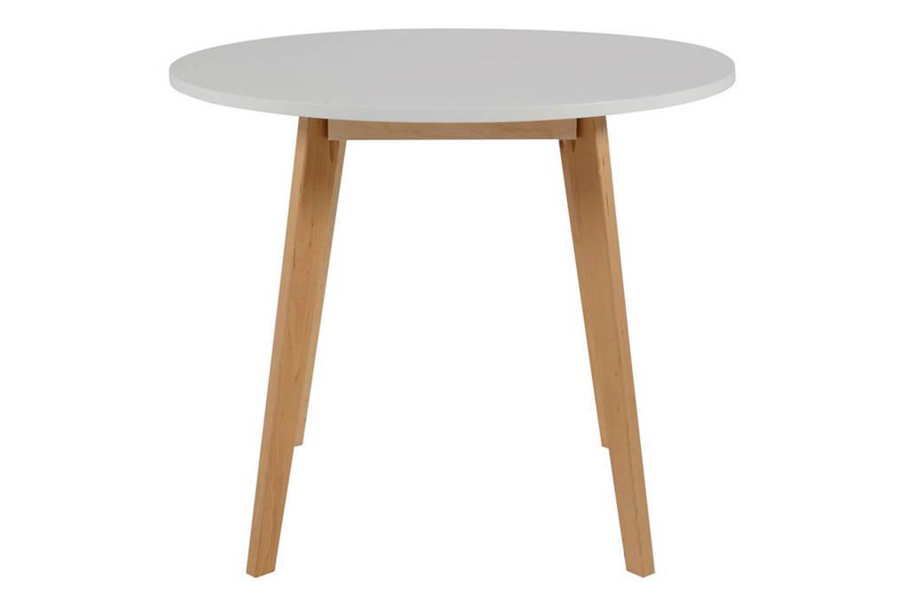 anytime Eettafel Elin 90 cm, Wit, berken