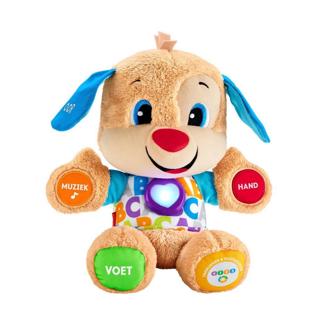 Fisher-Price Leerplezier eerste woorden puppy interactieve knuffel, Bruin