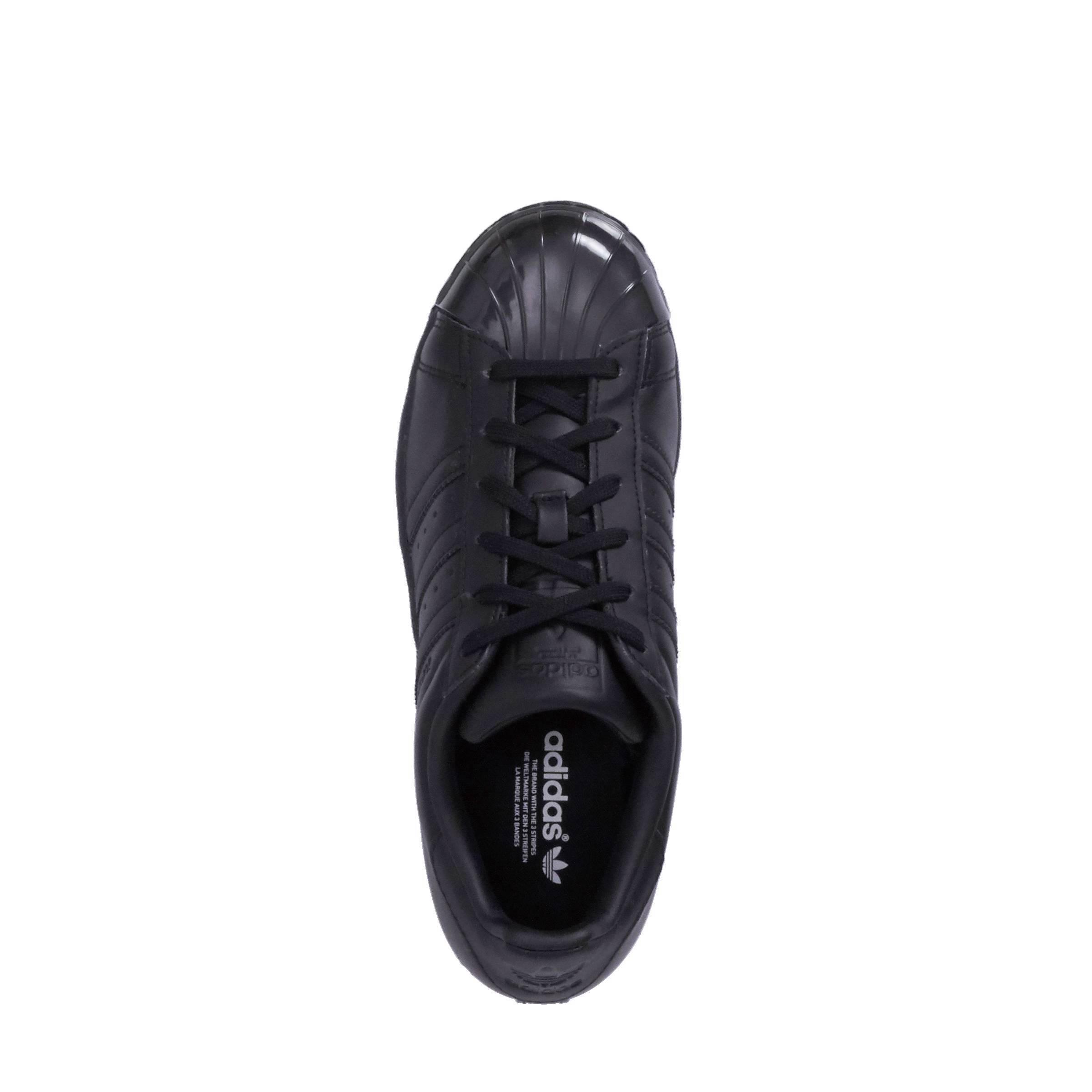 adidas originals Superstar Glossy Toe W Sneakers Zwart Dames