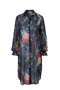 edc Women semi transparante blouse met bloemenprint (dames)