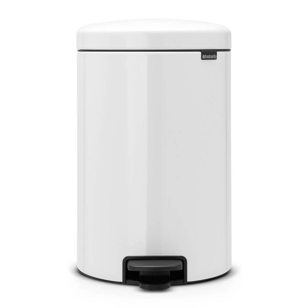 Brabantia newIcon pedaalemmer, 20 liter, White