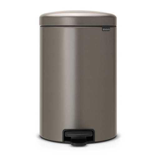 Brabantia New Icon Pedaalemmer 20L Platinum