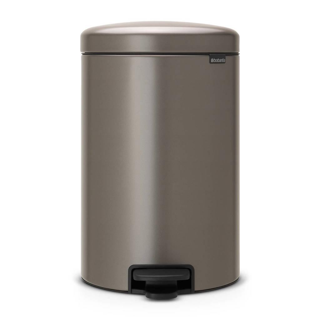Brabantia newIcon pedaalemmer, 20 liter, Platinum