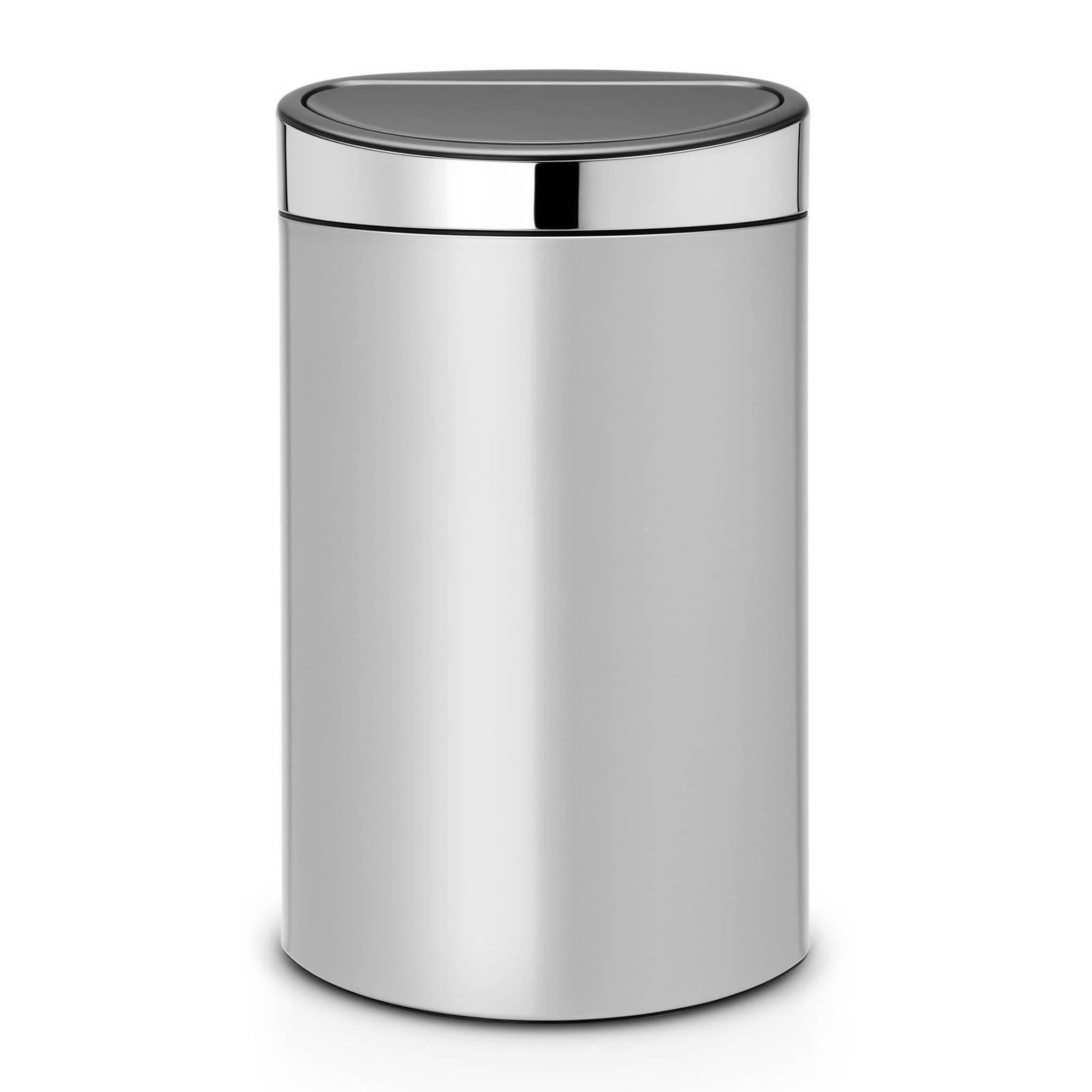 Garantie Brabantia Touch Bin 40 Liter.Touch Bin Prullenbak 40 Liter
