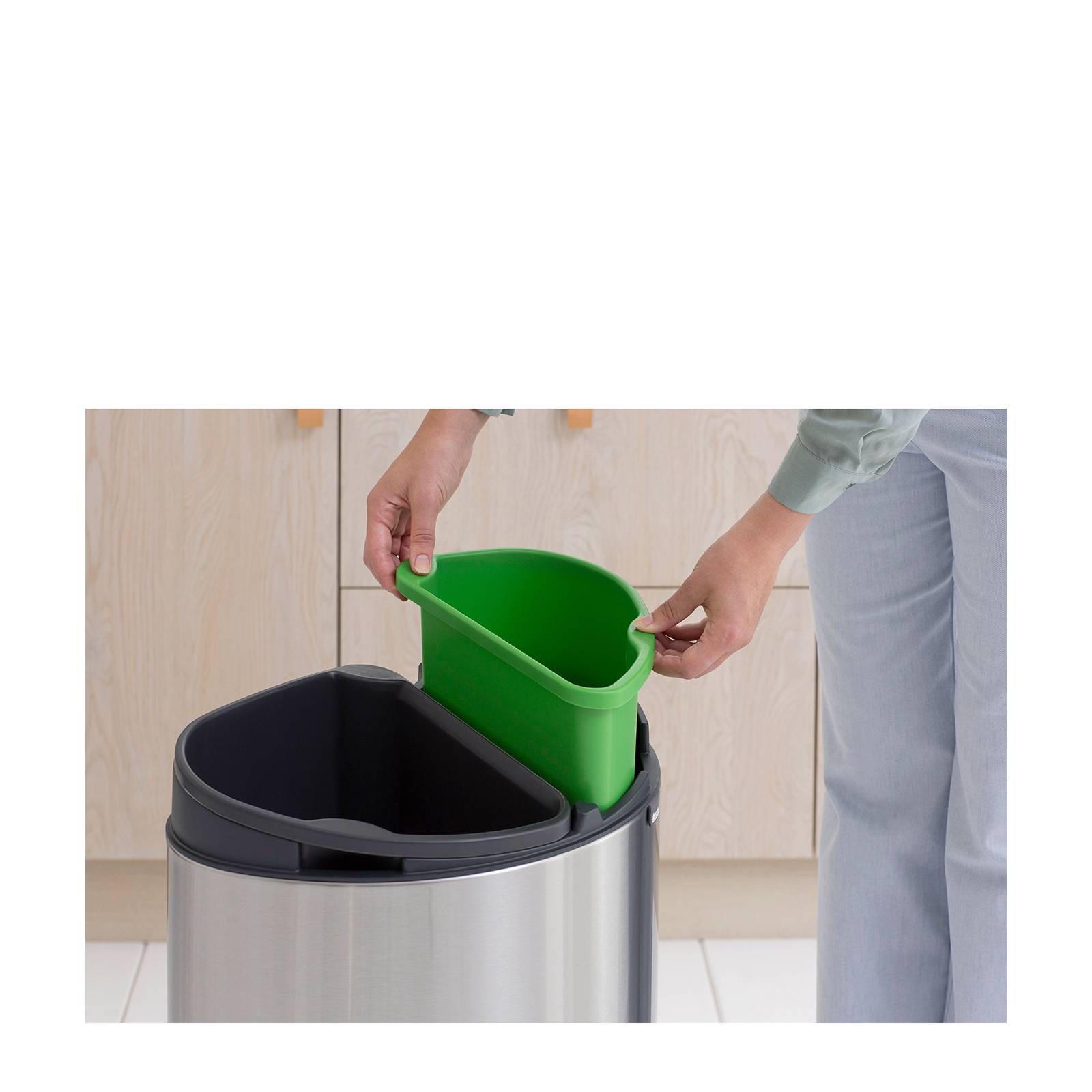 Brabantia Touch Bin Rvs.Brabantia Touch Bin Recycle Prullenbak 23 10 Liter Wehkamp