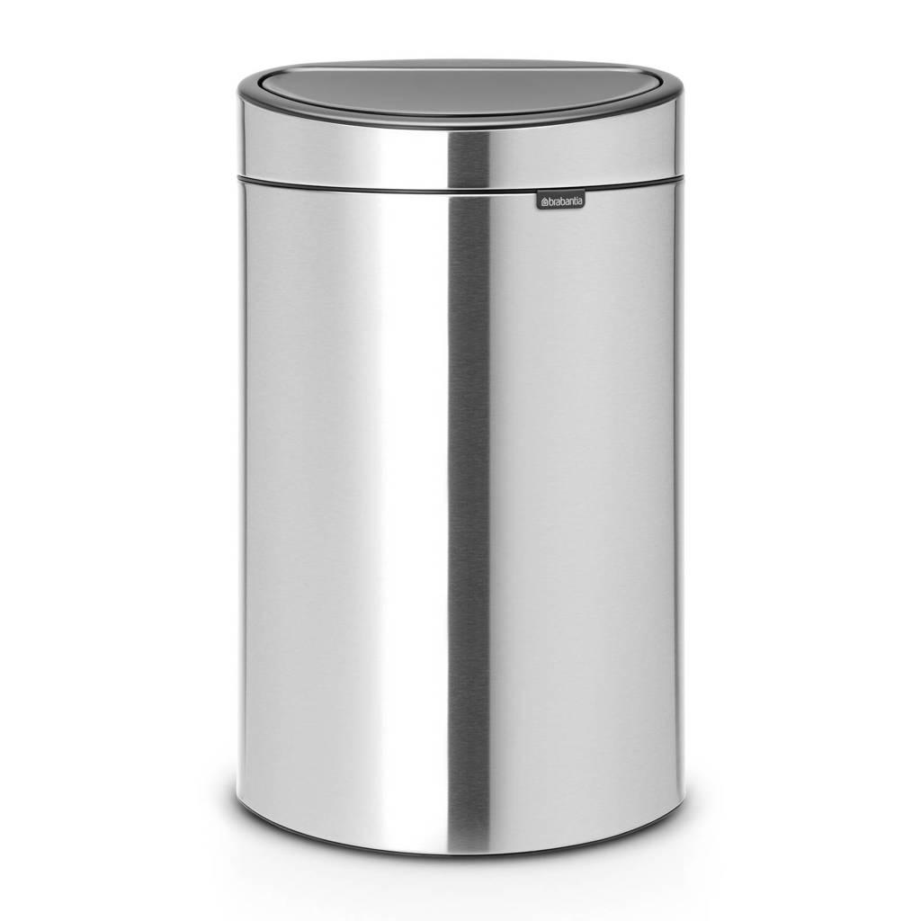 Brabantia Touch Bin Recycle prullenbak , 23+10 liter, Maat Steel FPP, 33