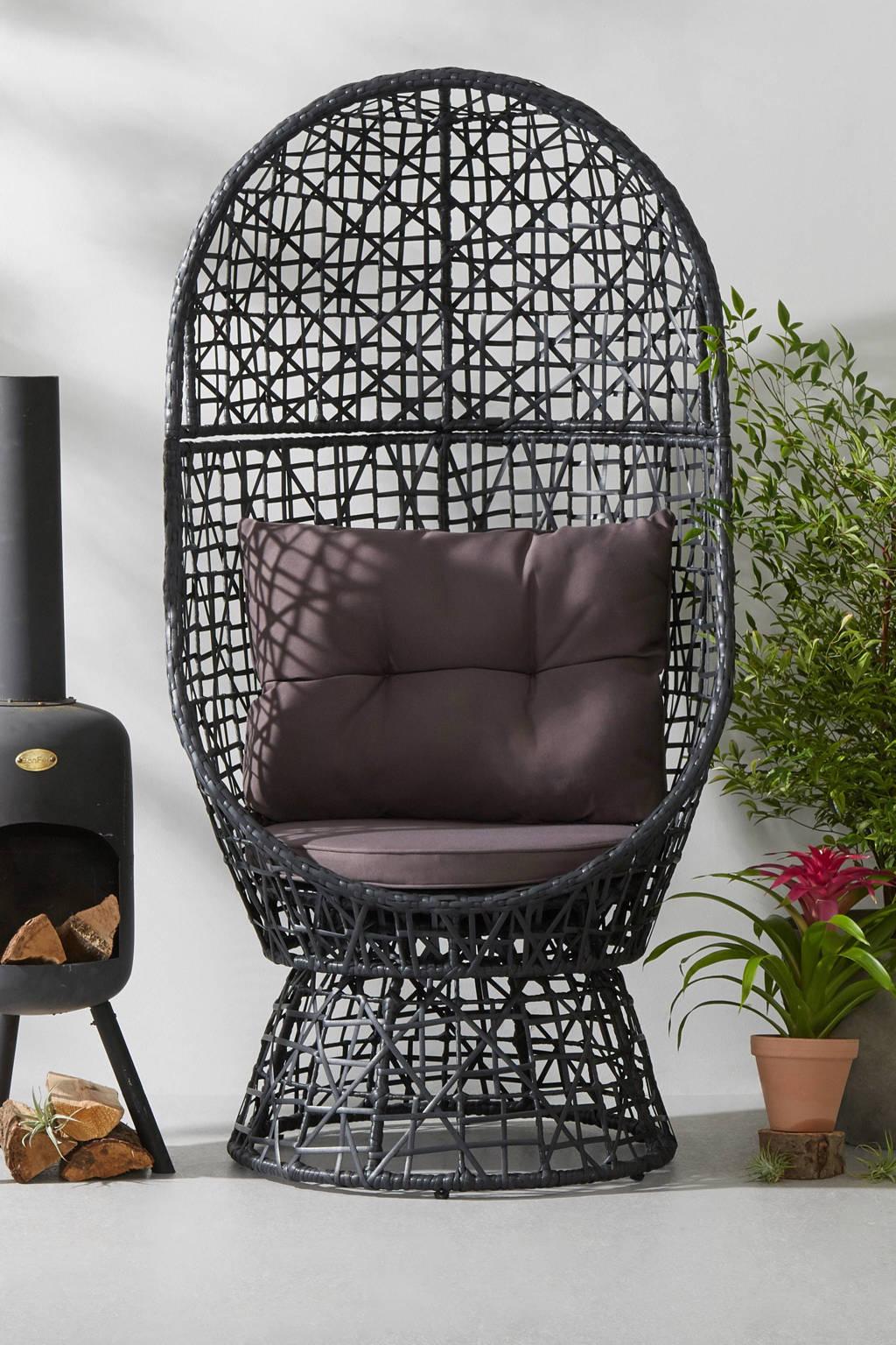 SenS-Line loungestoel Maletto, Lichtbruin met bruin