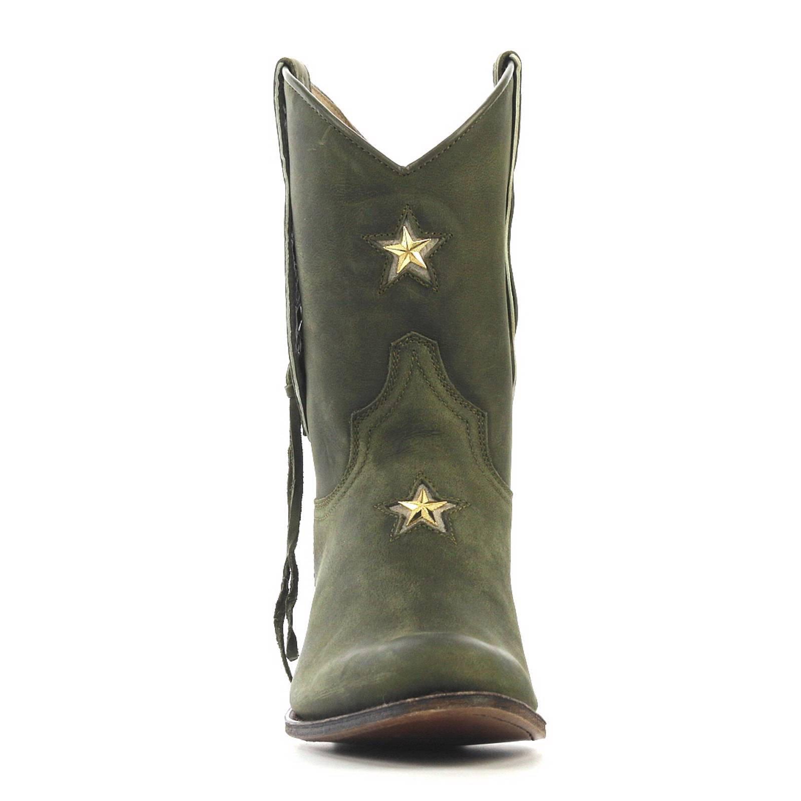 Sendra halfhoge leren cowboy laarzen | wehkamp