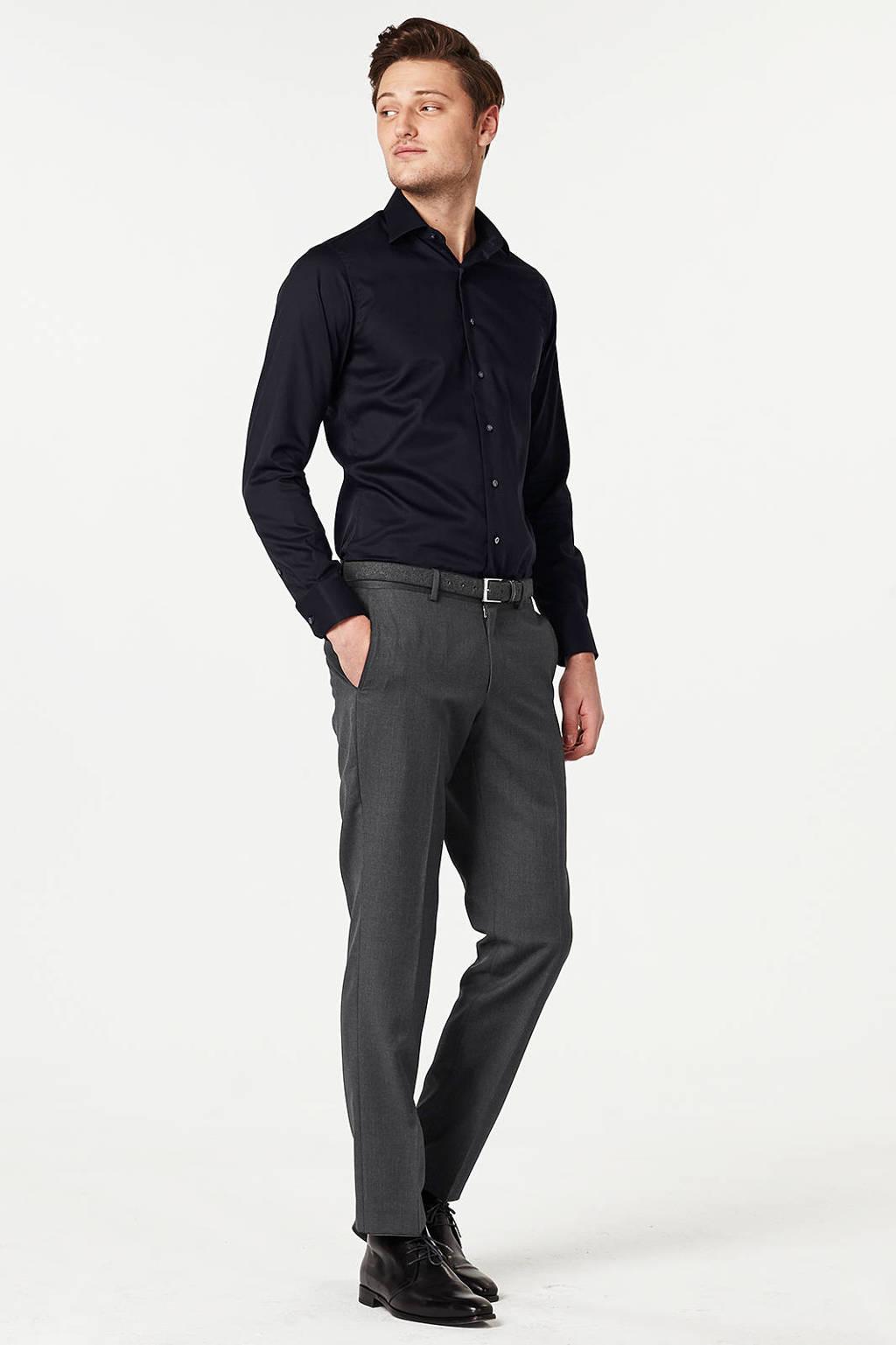 Michaelis slim fit overhemd, Zwart