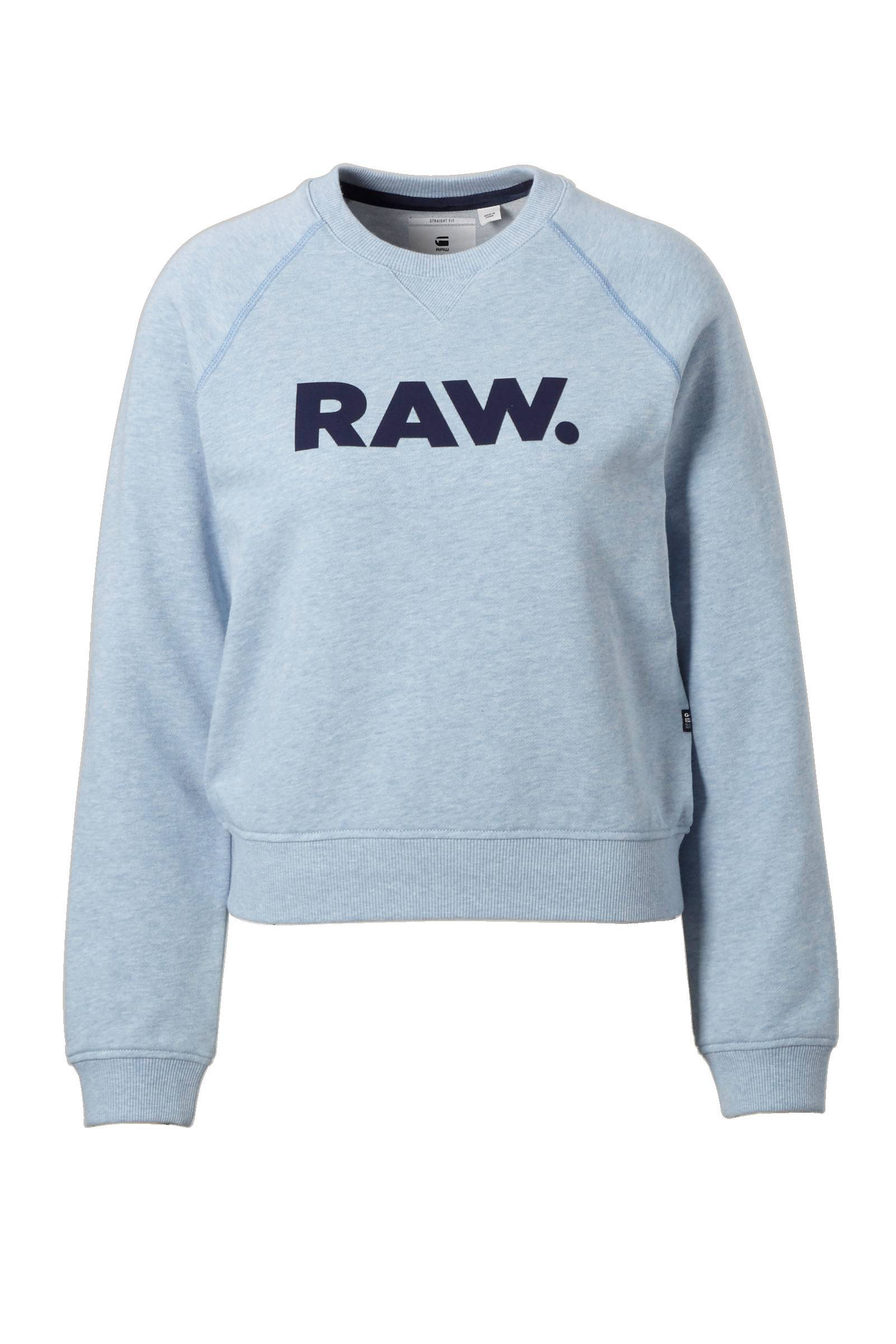 Lichtblauwe Trui Dames.G Star Raw Xula Art Straight Sweater Wehkamp