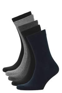 JACK & JONES sokken set van 5 paar antraciet, Zwart/navy/grijs