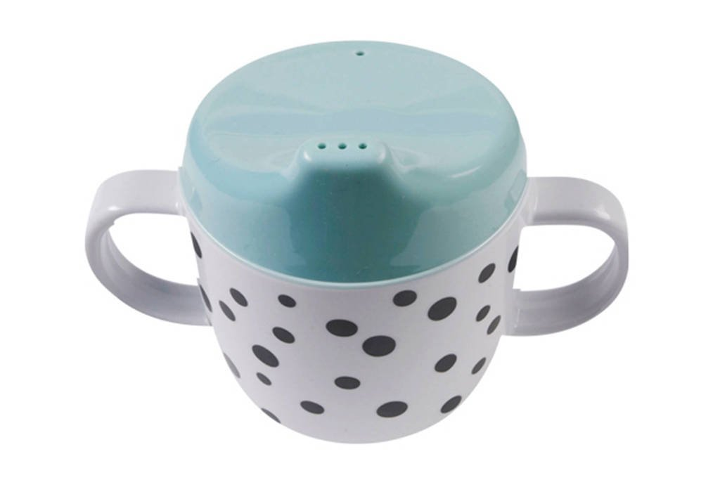 Done by Deer Happy Dots tuitbeker 170 ml blauw, Blauw