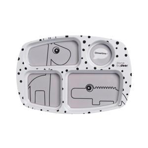 Happy Dots compartimentenbord grijs
