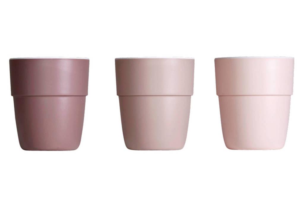 Done by Deer Yummy mini mok 120 ml roze (3 stuks), Roze