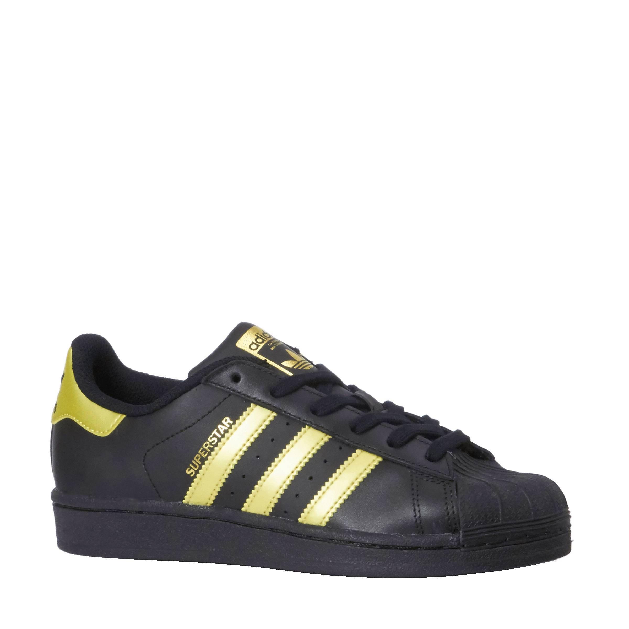 A100292 Adidas Populair Originals Superstar Zwart Goud