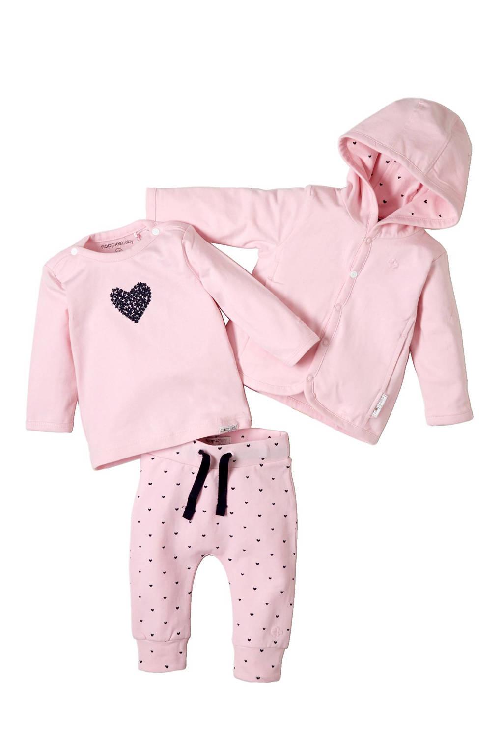 Noppies newborn baby legging Nynke, Lichtroze