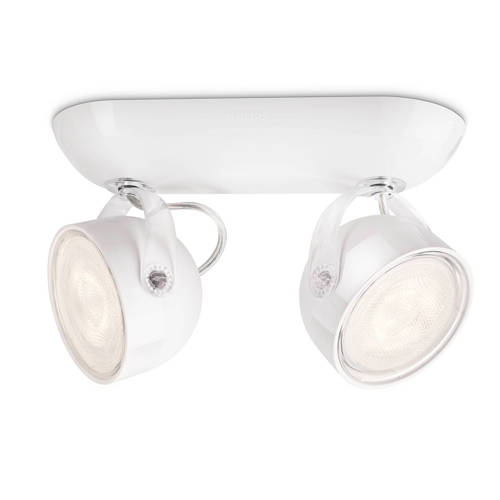 energie A+, LED-spotbalken myLiving Dyna II wit 2 lichtbronnen, Philips