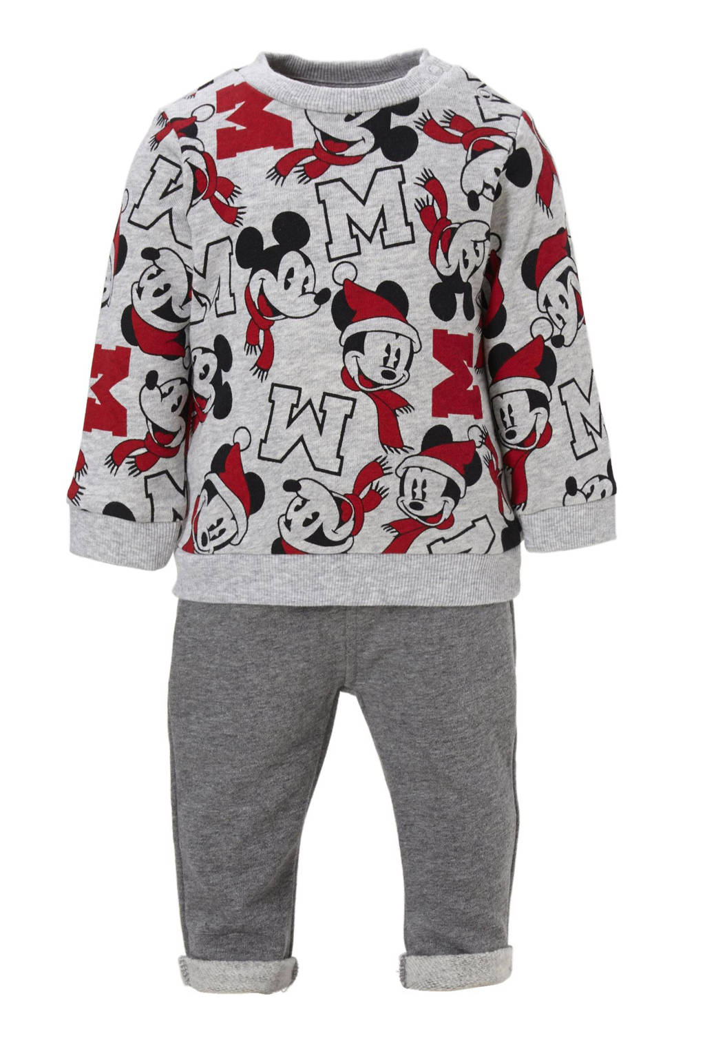 baa32080235999 Disney Kersttrui.C A Disney Baby C A Kerst Mickey Mouse Sweater Sweatpants  Wehkamp