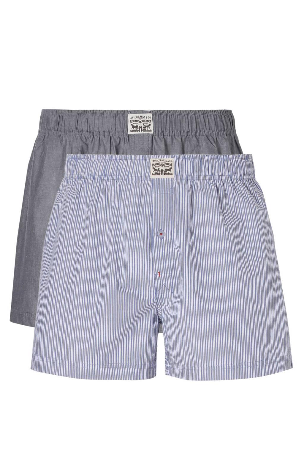 Levi's boxershort - set van 2, Lichtblauw/wit/denimblauw