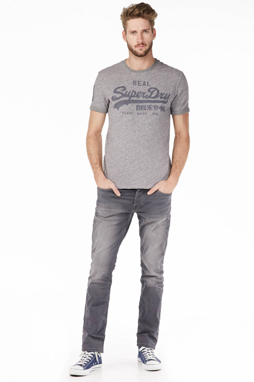 JACK & JONES JEANS INTELLIGENCE slim fit jeans Tim grey denim, Grey denim