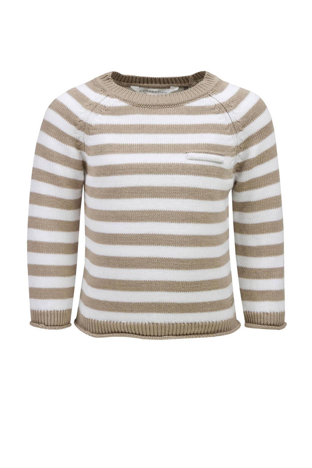 bellybutton trui, Beige/wit