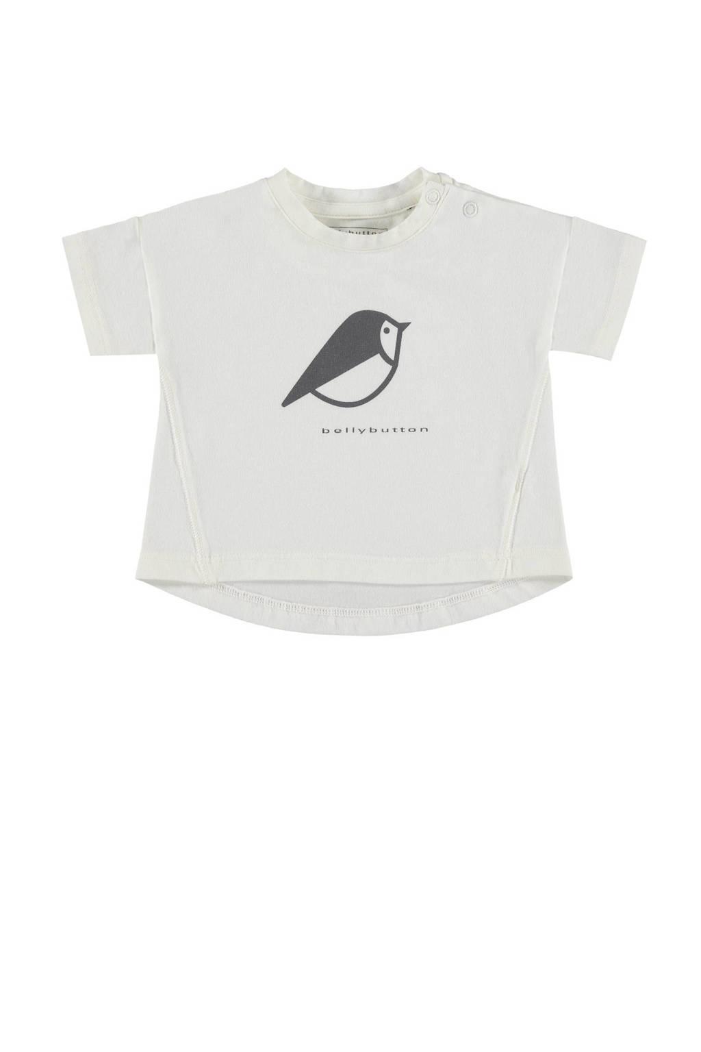 bellybutton T-shirt, naturel wit