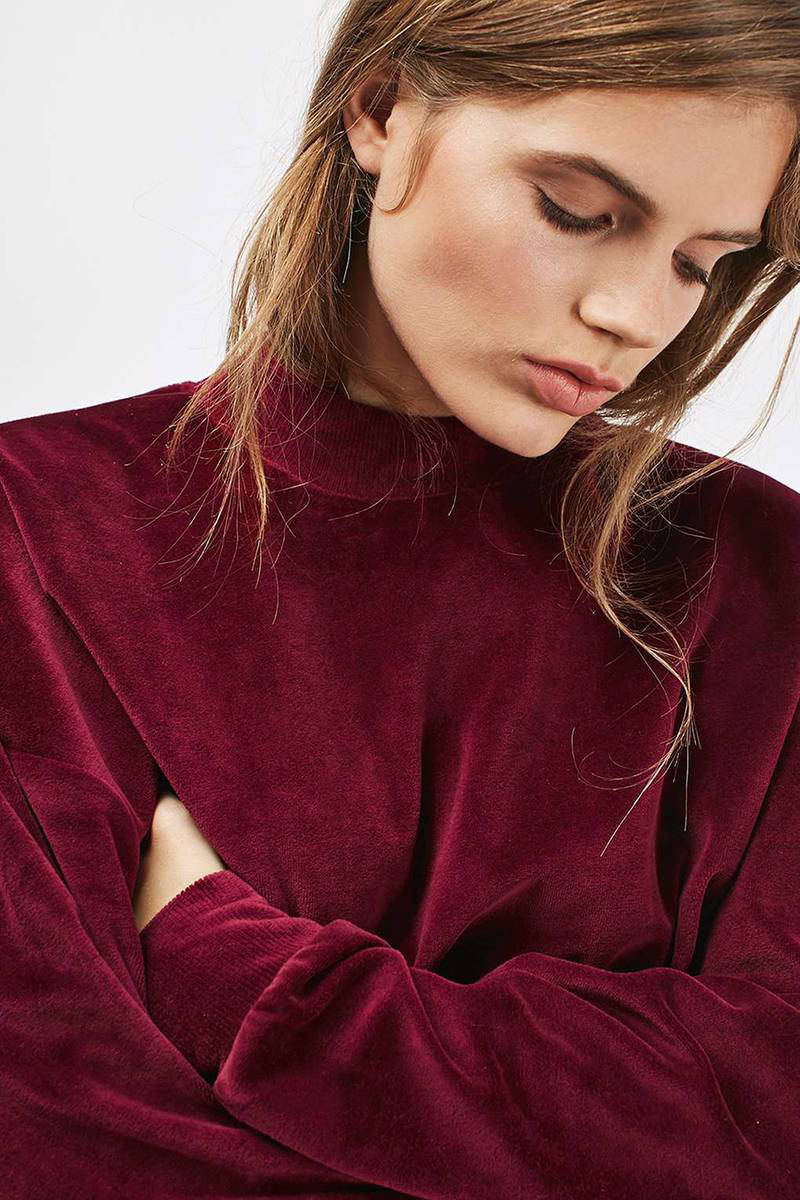 Topshop fluwelen sweater | wehkamp