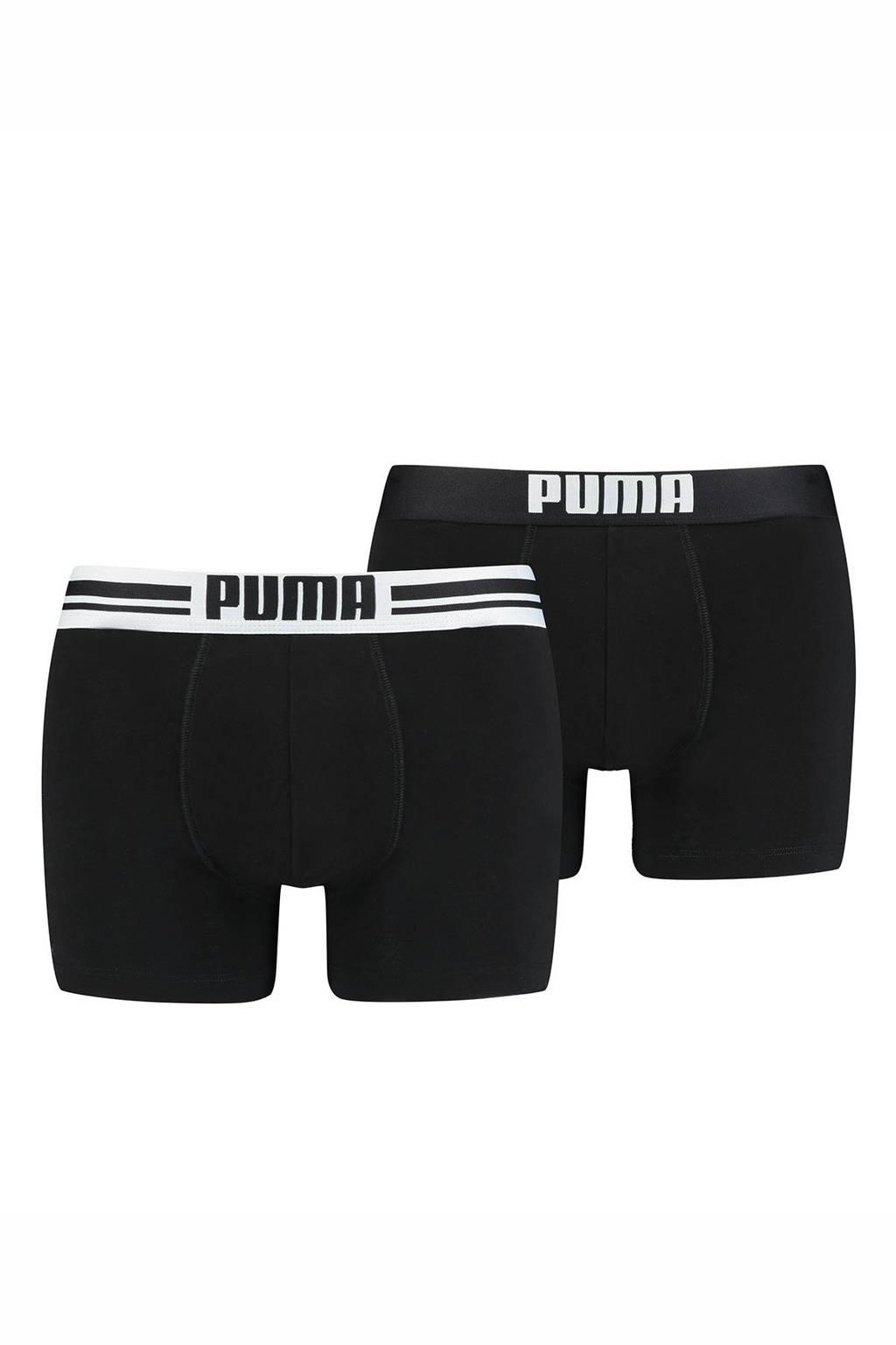 Puma Bodywear boxershort (set van 2), Zwart