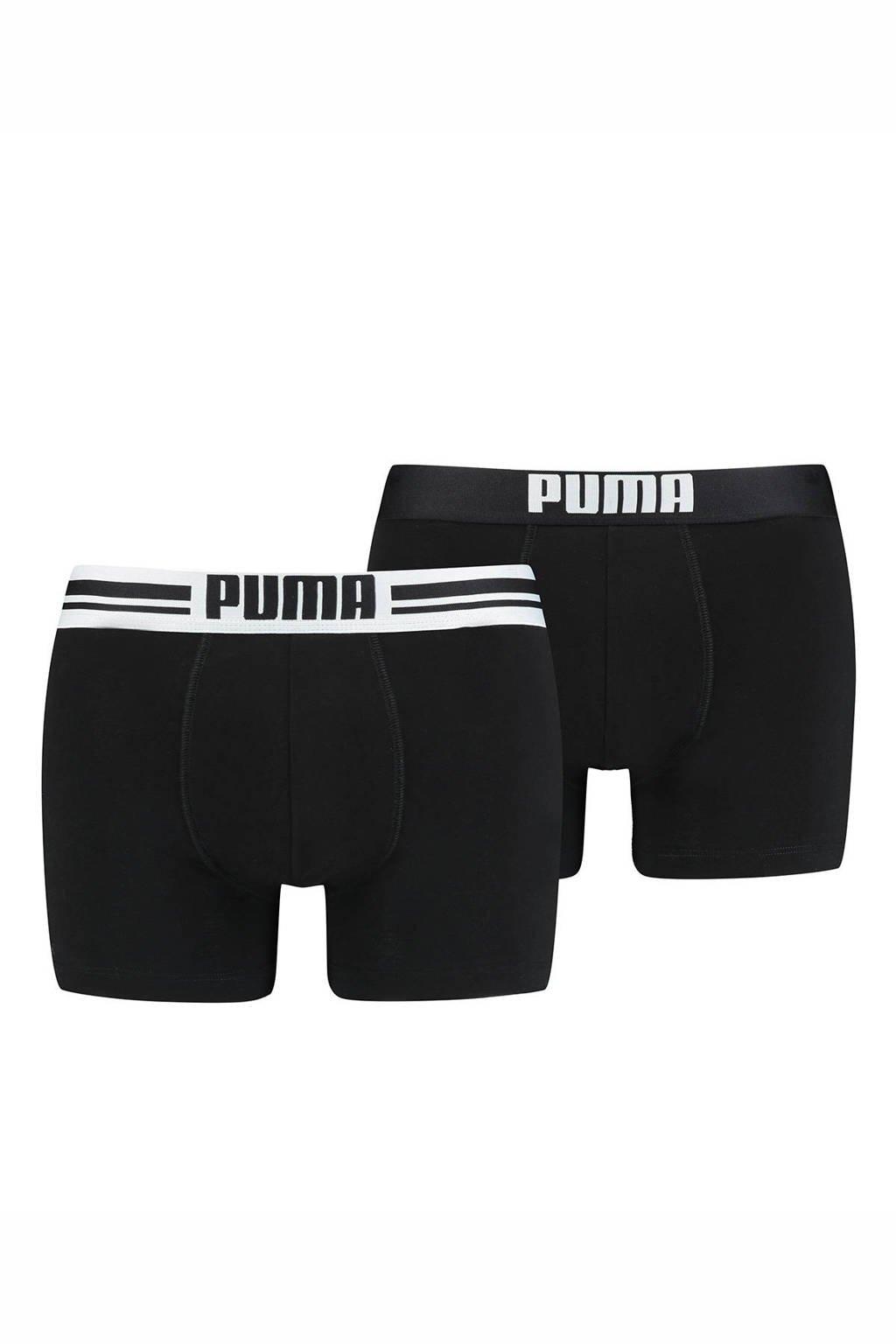 Puma boxershort (set van 2), Zwart