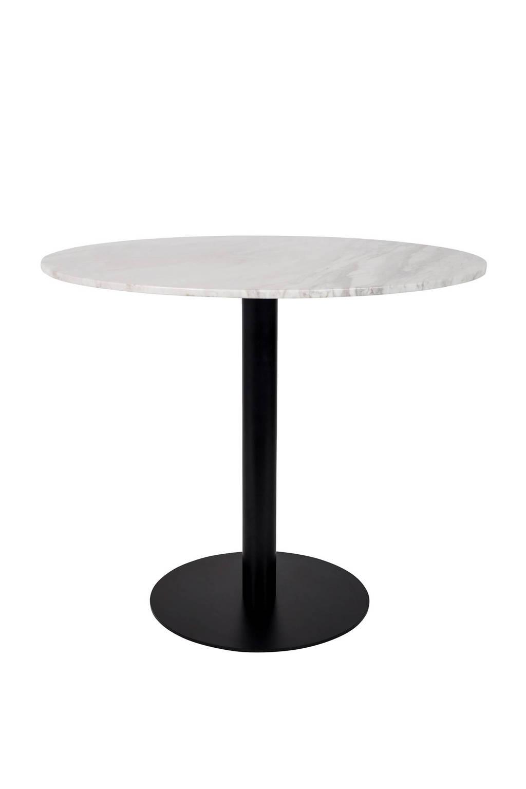 Zuiver ronde Marble King eettafel 90 cm, Marmer, zwart