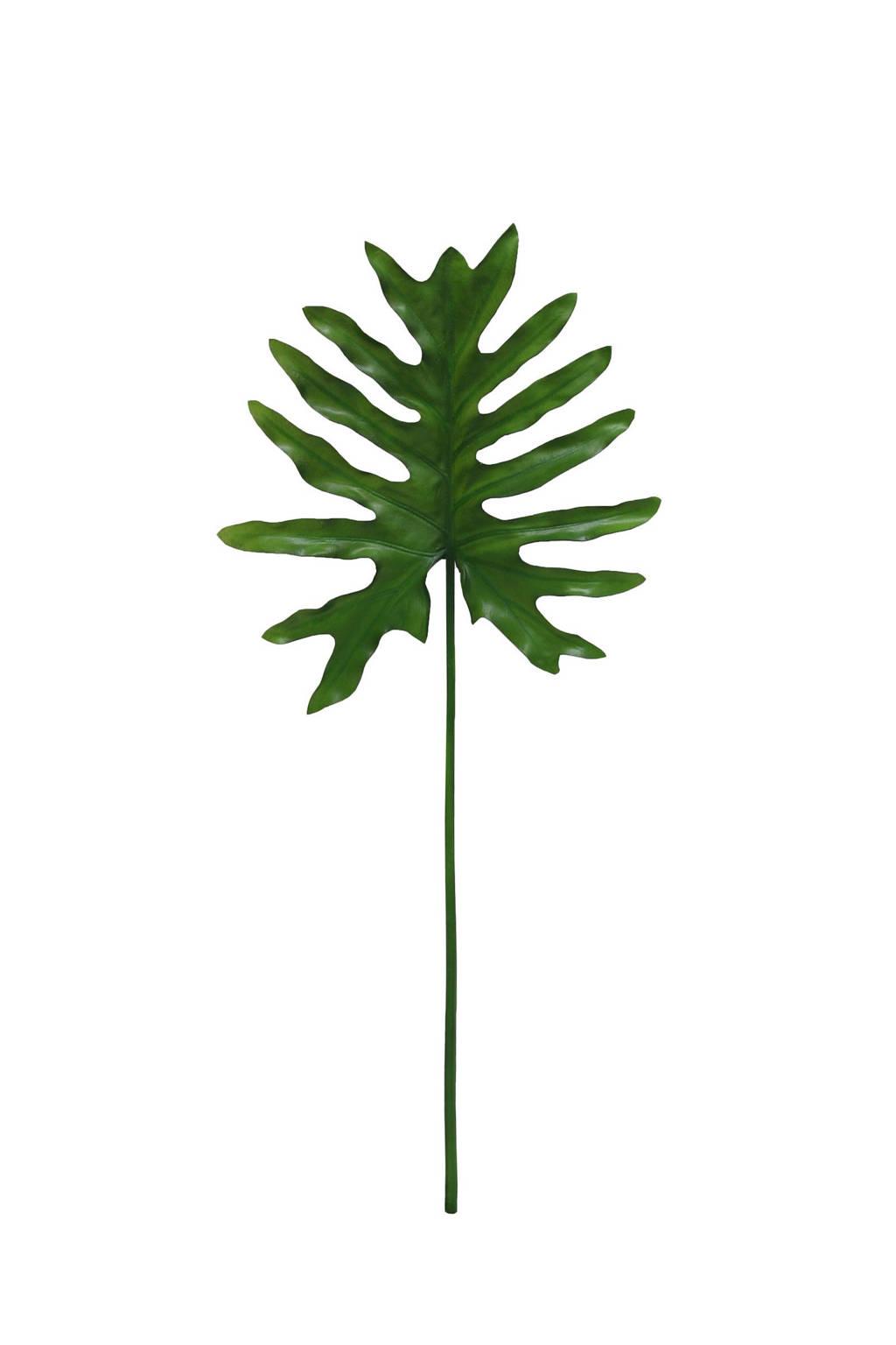 HKliving kunstplant Philodendron blad, Groen