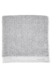 handdoek wit/grijs (set van 2)