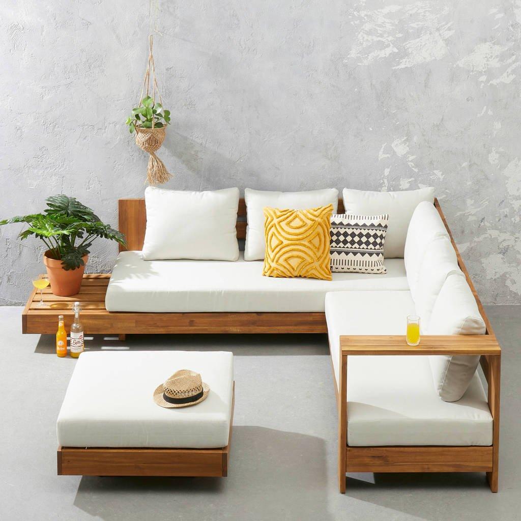 wehkamp home loungeset Belmonte, Naturel/roomwit