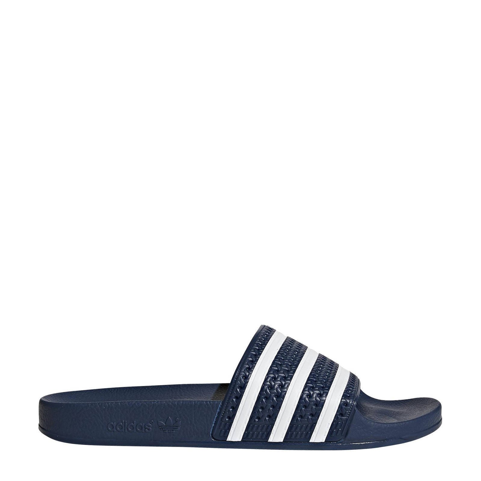 adidas Originals Adilette badslippers donkerblauw | wehkamp