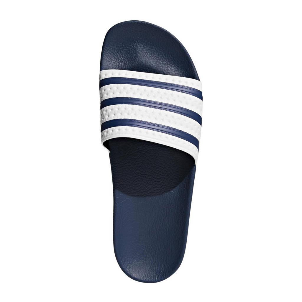 adidas Originals   Adilette badslippers, Blauw/wit