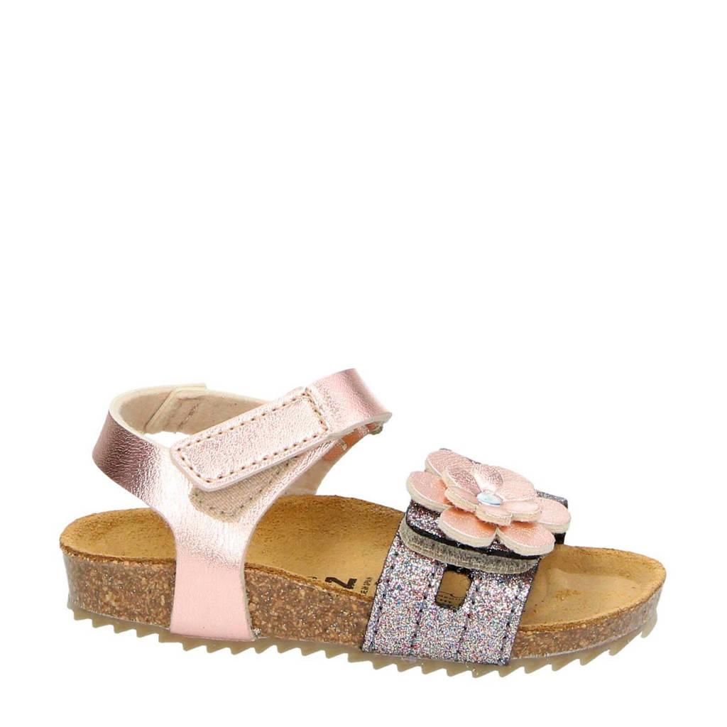 Nelson Kids   sandalen met glitters roze, Roze/metallic